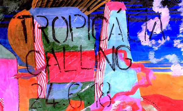 Display tropicalia calling painting crop