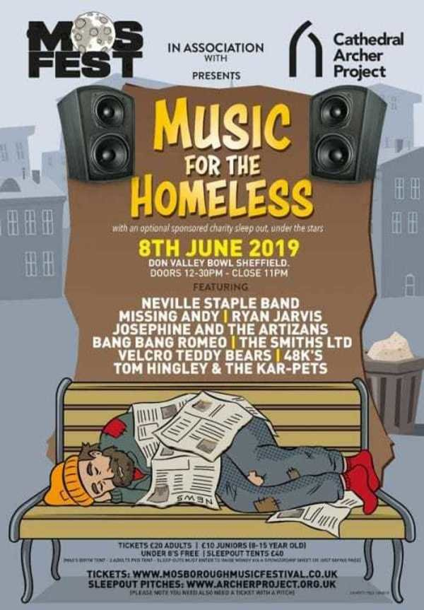 Display music for the homeless poster 500x719