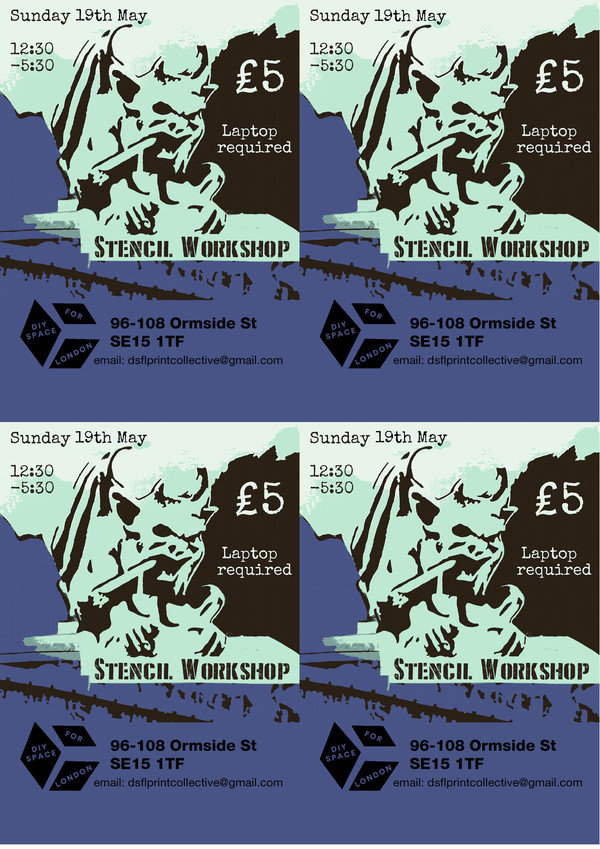 Display stencil workshop flyer 4